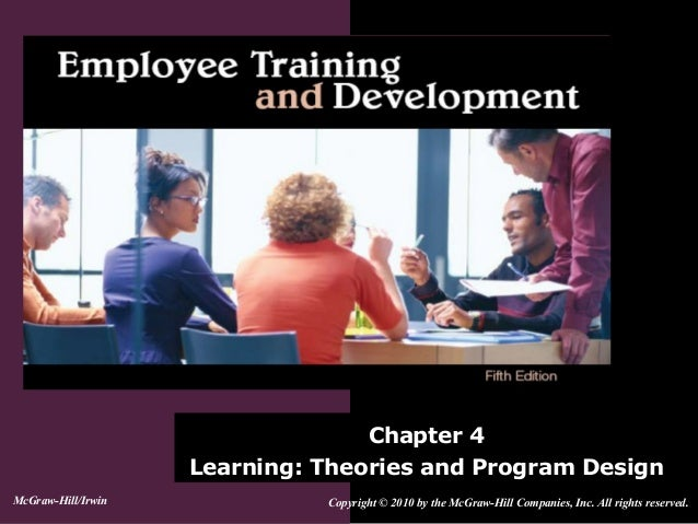 Chapter 4Learning: Theories and Program DesignCopyright © 2010 by the McGraw-Hill Companies, Inc. All rights reserved.McGr...