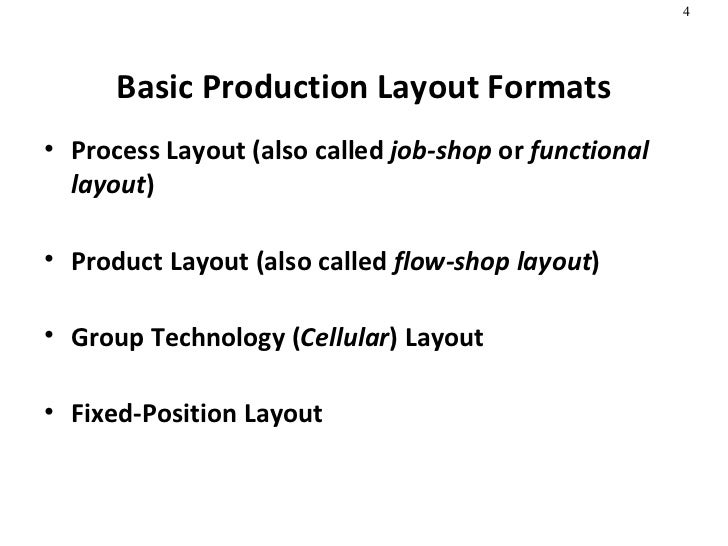 Shop Layout And Management Called Flow-shop Layout