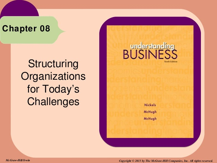 Chapter 08           Structuring          Organizations           for Today's           ChallengesMcGraw-Hill/Irwin       ...