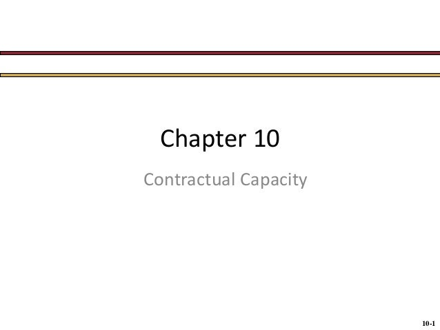 BUS 115 Chap010   capacity and legality