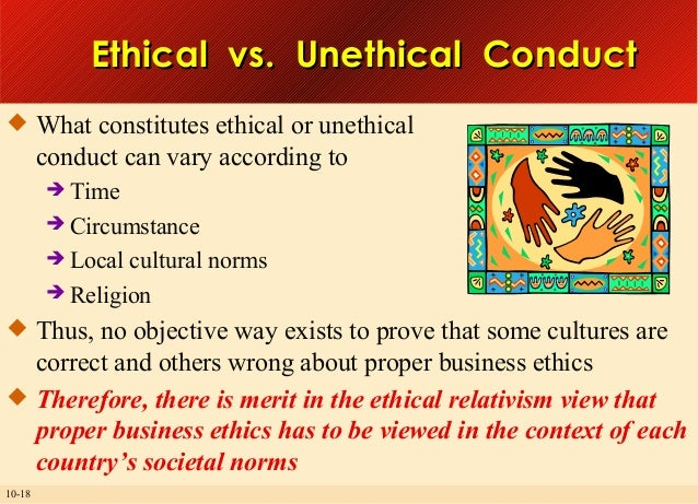 american society as a whole is predisposed to ethical or unethical behavior Definition of ethical behavior: acting in ways consistent with what society and individuals typically think are good values in whole or in part.