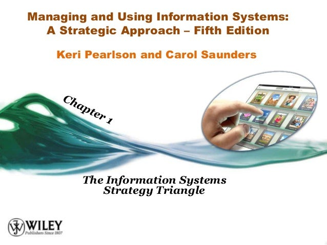 Managing and Using Information Systems:  A Strategic Approach – Fifth Edition    Keri Pearlson and Carol Saunders        T...