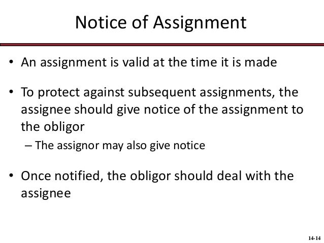 An assignment is valid