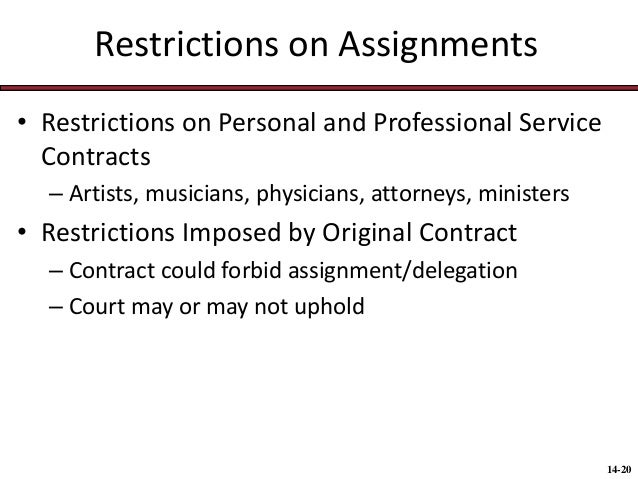 Assignment of obligations