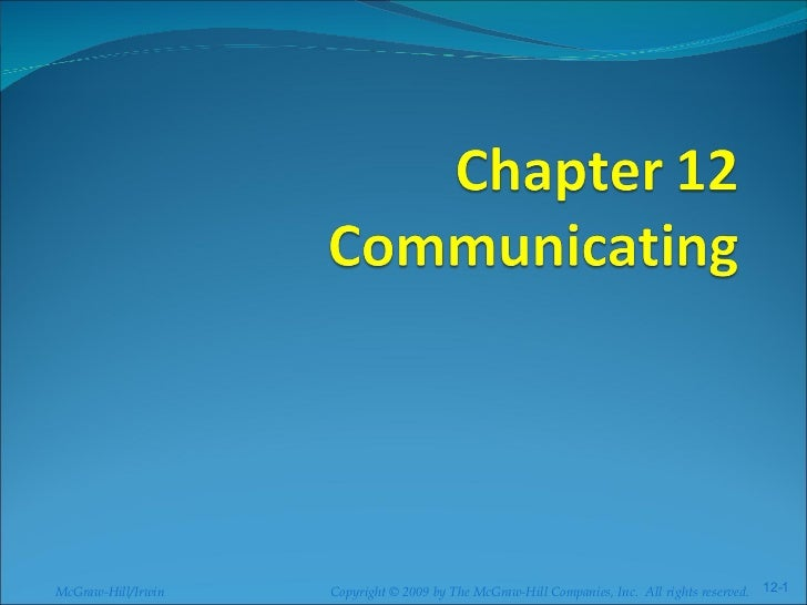 BUS137 Chapter 12