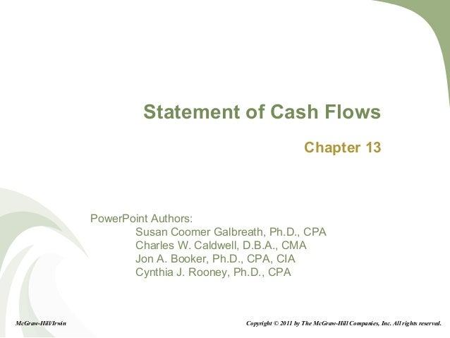 13-1 PowerPoint Authors: Susan Coomer Galbreath, Ph.D., CPA Charles W. Caldwell, D.B.A., CMA Jon A. Booker, Ph.D., CPA, CI...