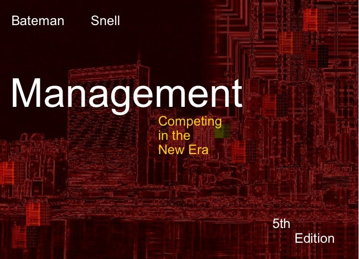13-1 Bateman   SnellManagement         Competing                   in the                   New Era                       ...