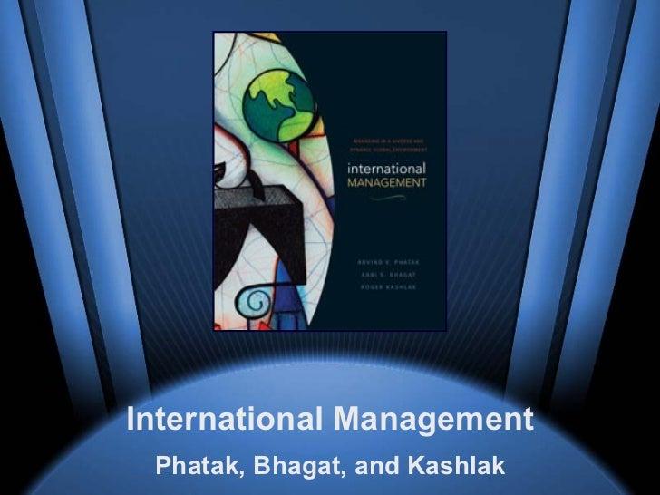 International Management Phatak, Bhagat, and Kashlak