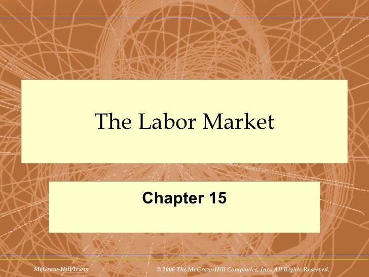 The Labor Market Chapter 15