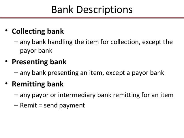 Identify the drawer bank and drawee bank? Accounting?