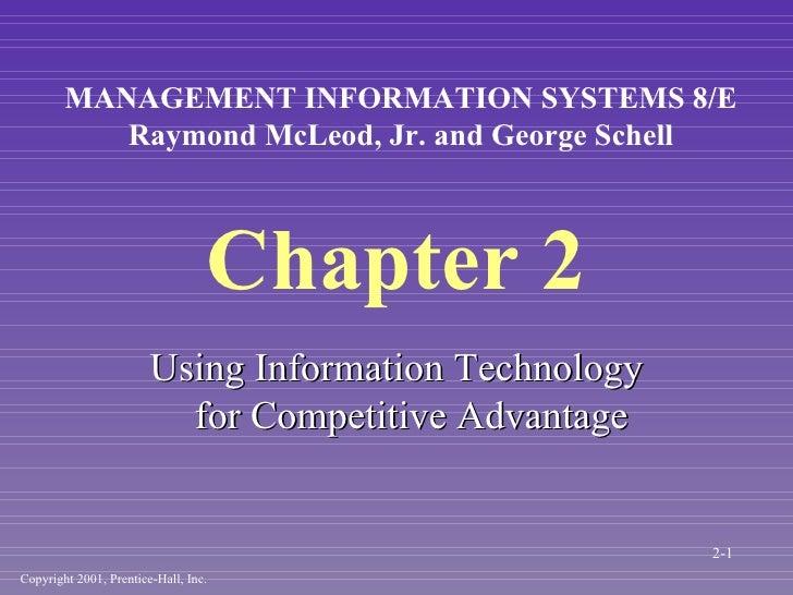 Chapter 2 <ul><li>Using Information Technology for Competitive Advantage </li></ul>Copyright 2001, Prentice-Hall, Inc. MAN...