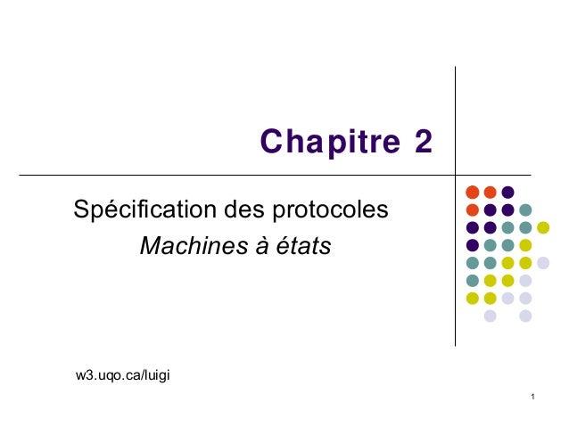 1Chapitre 2Spécification des protocolesMachines à étatsw3.uqo.ca/luigi