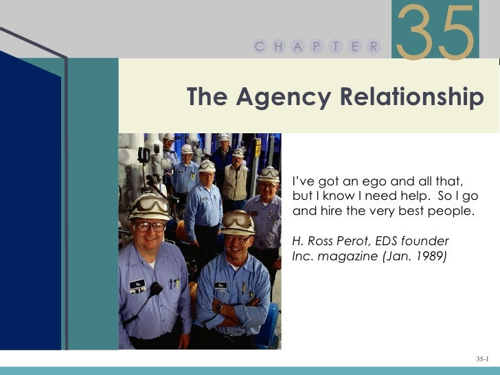 Chapter 35 – The Agency Relationship