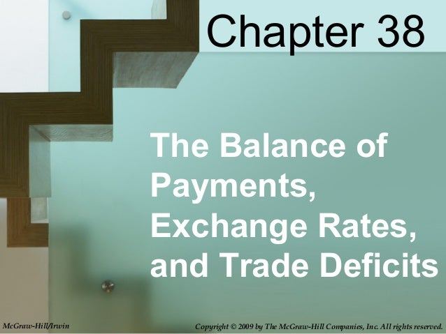 The Balance ofPayments,Exchange Rates,and Trade DeficitsChapter 38McGraw-Hill/Irwin Copyright © 2009 by The McGraw-Hill Co...