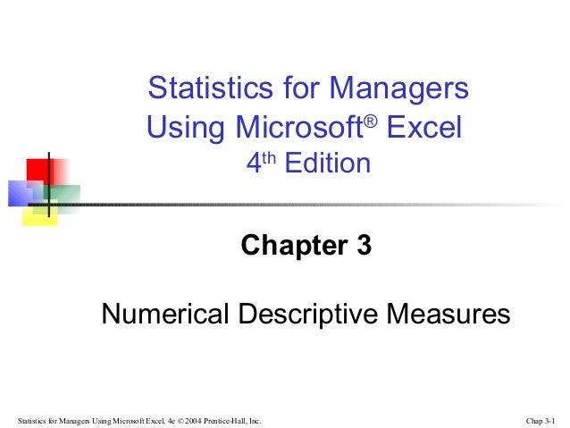 Chap03 numerical descriptive measures