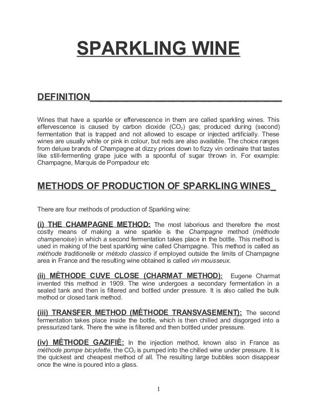 SPARKLING WINEDEFINITION_____________________________________Wines that have a sparkle or effervescence in them are called...