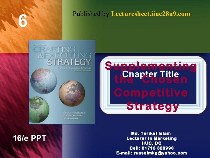 Supplementing  the  Chosen  Competitive  Strategy Published by  Lecturesheet.iiuc28a9.com