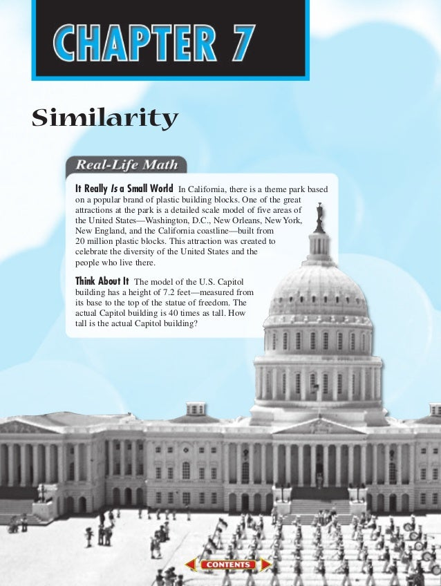 SimilarityIt Really Is a Small World In California, there is a theme park basedon a popular brand of plastic building bloc...