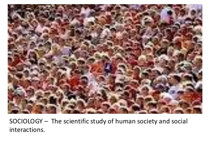 SOCIOLOGY – The scientific study of human society and socialinteractions.