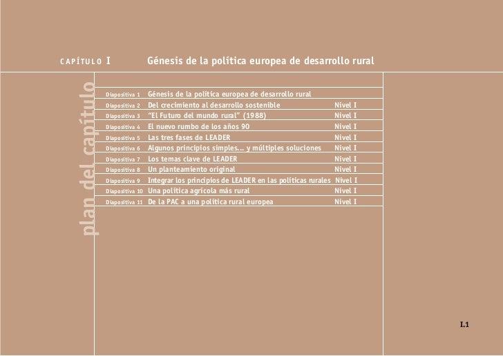 CAPÍTULO               I                Génesis de la política europea de desarrollo rural   plan del capítulo   Diapositi...