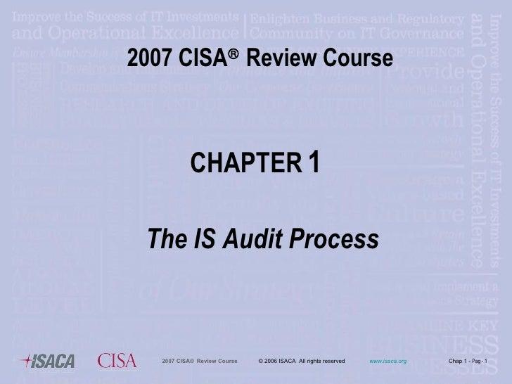 Chap1 2007 Cisa Review Course