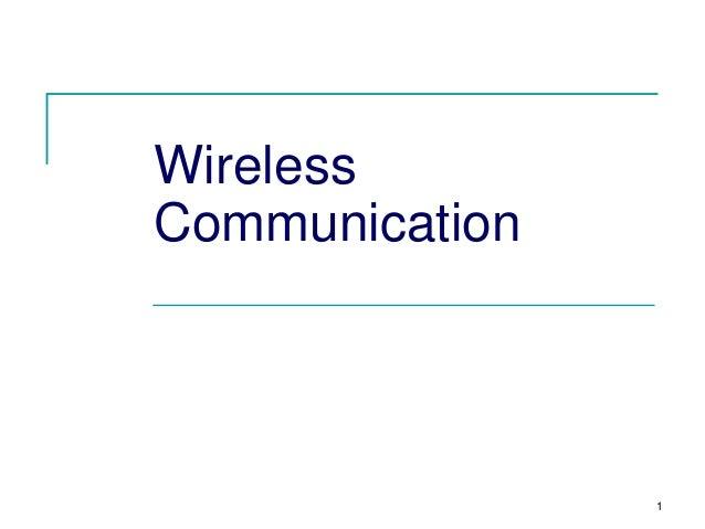 Wireless Communication  1