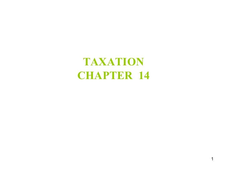 TAXATION CHAPTER  14