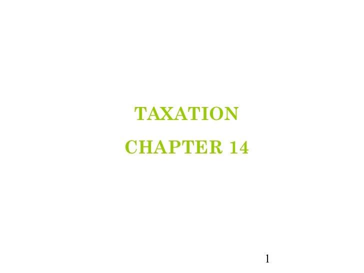 TAXATIONCHAPTER 14             1