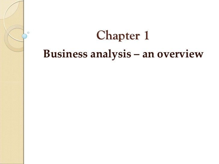 Business Analysis- An Overview