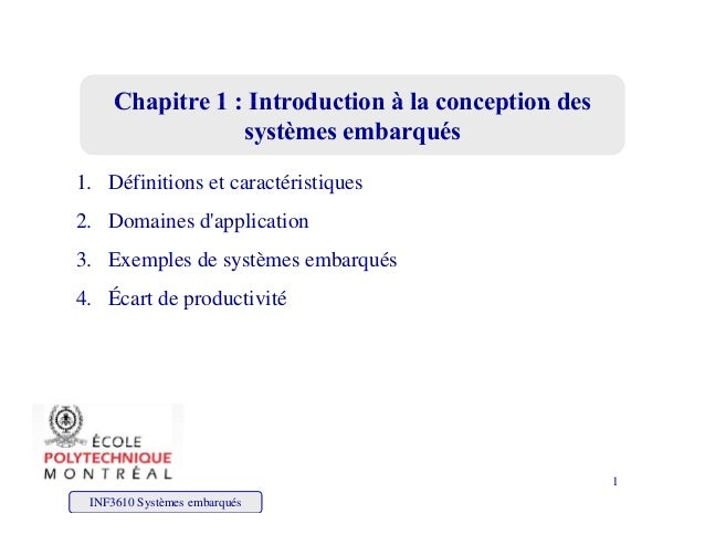 Chapitre 1 : Introduction à la conception desChapitre 1 : Introduction à la conception desChapitre 1 : Introduction à la c...