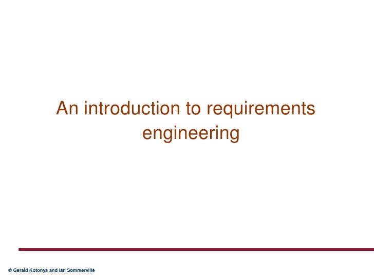 An introduction to requirements engineering<br />