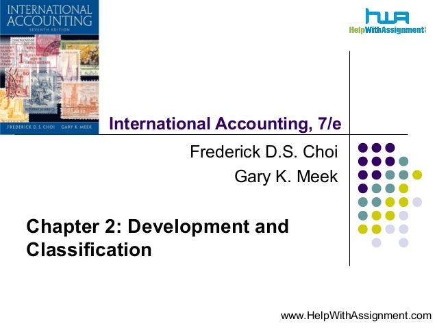 International Accounting:Development and Classification