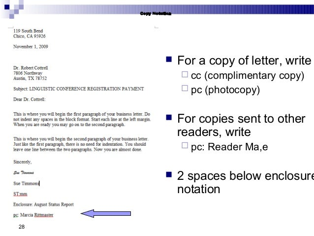 Use Cc Or Pc In Business Letters