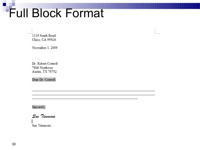 full block form of application letter Some of these small business forms (forms, agreements, contracts, etc) contain technical language and create significant legal obligations and can never replace the advice of a lawyer.