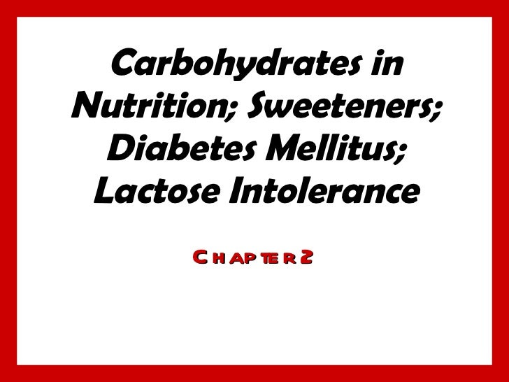 Chap2 carbohydrates