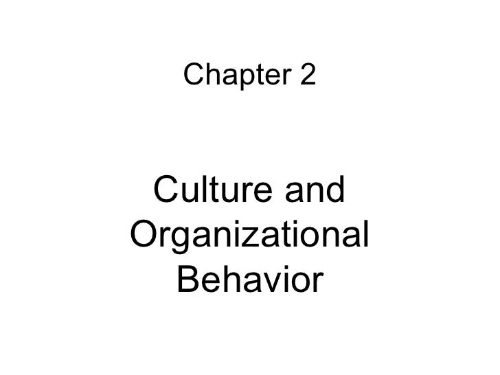 Chapter 2 Culture and Organizational Behavior