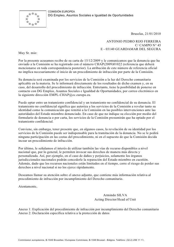 COMISIÓN EUROPEA                            DG Empleo, Asuntos Sociales e Igualdad de Oportunidades                       ...
