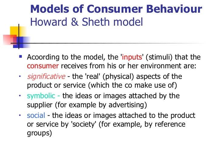 howard sheth model Title: an empirical test of the howard-sheth model of buyer behavior created date: 20160807093413z.