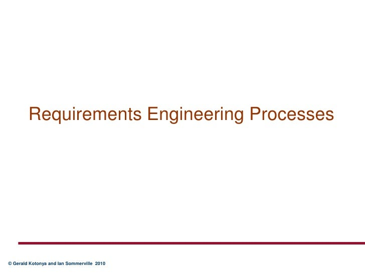 Requirements Engineering Processes<br />