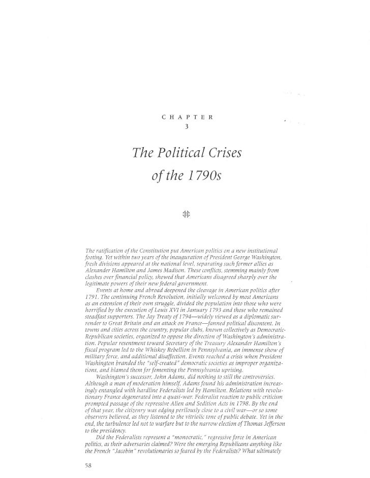 CHAPTER                                            3                         The Political Crises                         ...
