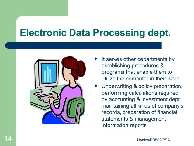 electronic data processing (EDP)