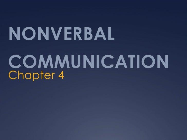 Chap 4 nonverbal