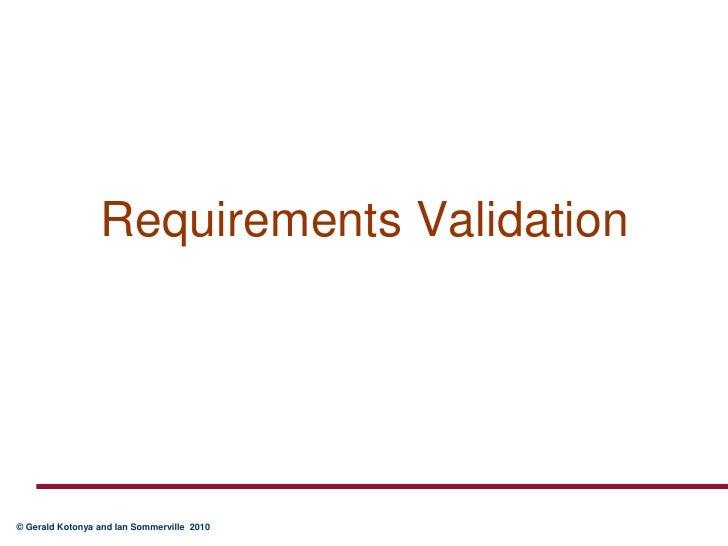 Chap4 RE validation
