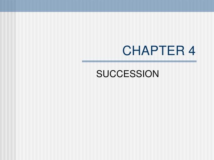 Chap4 Succession