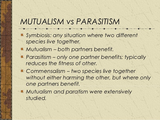 pseudo relationship vs mutual between organisms