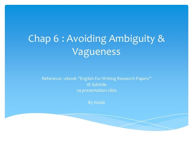 crt 205 vagueness ambiguity and clarity in writing Vagueness ambiguity and clarity in writing  com/crt-205-ver-8-week-3-individual-writing-sample.
