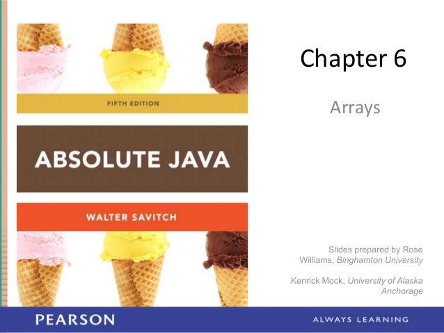 Chapter 6 Arrays