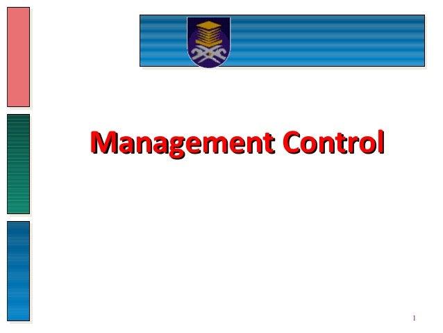 Management ControlManagement Control 1