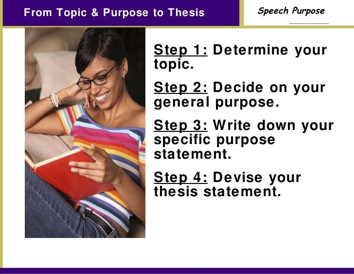 purpose of thesis