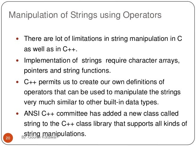 C++ string manipulation